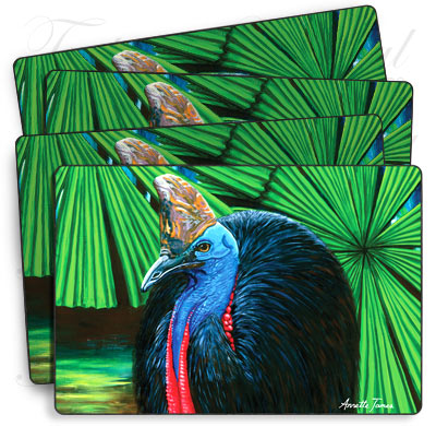 4 pack of Cassowary Placemats