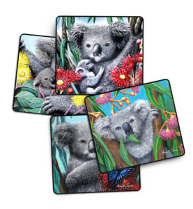 Koala 4 pack drink coasters
