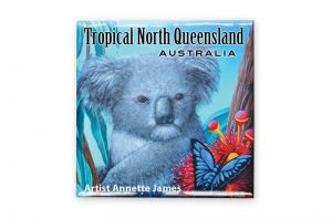 Koala Square Fridge Magnet