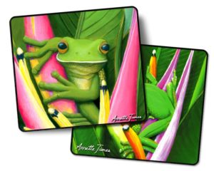 Tree Frog 2 pack Drink Coasters #1