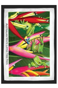 White Lipped Tree Frog Travel / Tea Towel