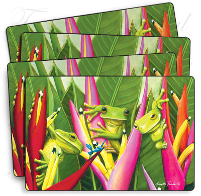 Set of 4 Tree Frog Placemats